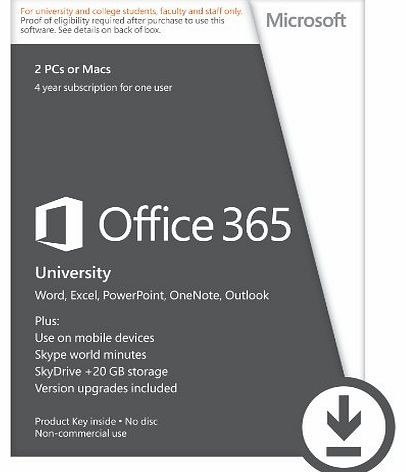 Office 365 University 4-year Subscription (Student Validation Required) [Download]